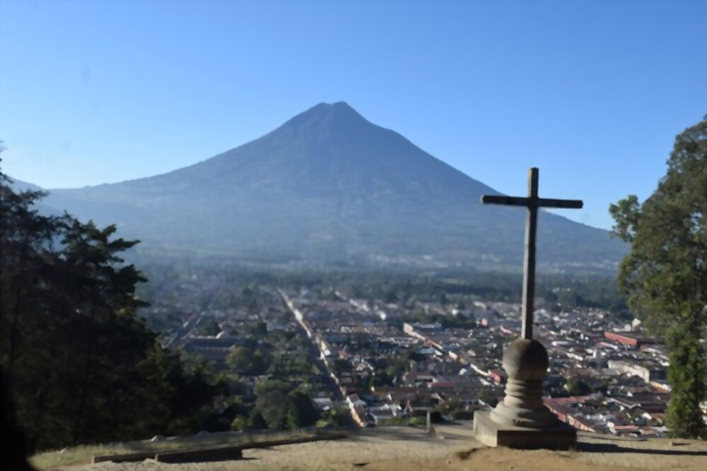 Mirador de la cruz Antigua Guatemala