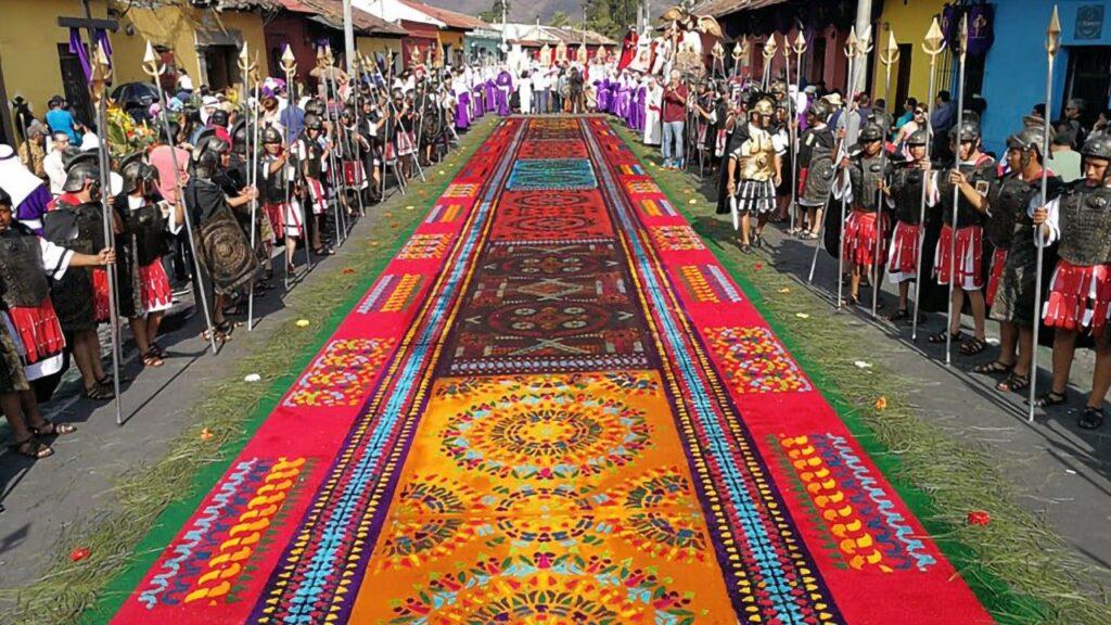 Alfombras de semana Santa en Antigua Guatemala 2021