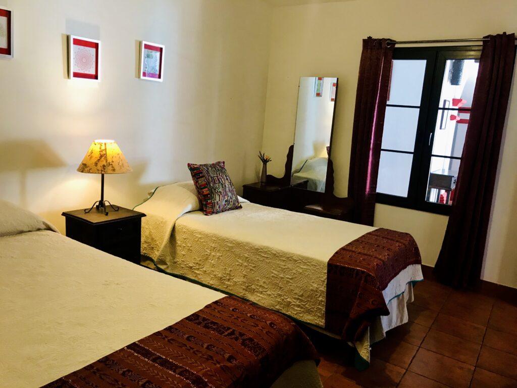 Habitación doble hotel en Antigua Guatemala